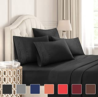 Queen Size Sheet Set – 6 Piece Set – Hotel Luxury Bed Sheets – Extra..