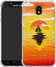 HHDY Samsung Galaxy J5 2017 Case,[Ultra Lightweight] Reinforced [4-Corners Bumper] Flexible TPU [Pattern Design] Cover for Samsung Galaxy J5 J530 2017,Sunset