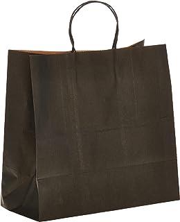 SNH Paper Bag Twisted Handle 29x15x12 CM, Black, 20 Pieces - Paper Party Bags Hen Party Bags Kraft Paper Bag Bride Birthda...