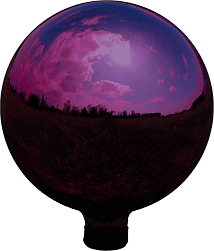wholesale Sunnydaze Merlot Garden Gazing Globe Ball, Outdoor 2021 Lawn and Yard discount Glass Ornament, Reflective Mirrored Surface, 10-Inch outlet online sale