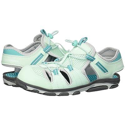 New Balance Kids Adirondack Sandal (Toddler/Little Kid) (Grey/Mint) Girls Shoes