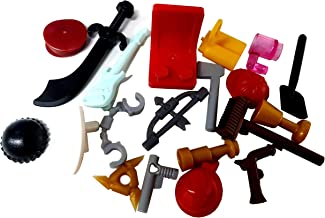 LEGO (X20 Minifigure Accessories - Hats, Weapons, Tools, Flippers Etc