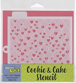 Crafter's Workshop Cookie Stencil 2 Pack, 10 Mil Food Safe Templates for Decorating and Baking, TCW5001 Heart Background and TCW5016 Quattrefoil