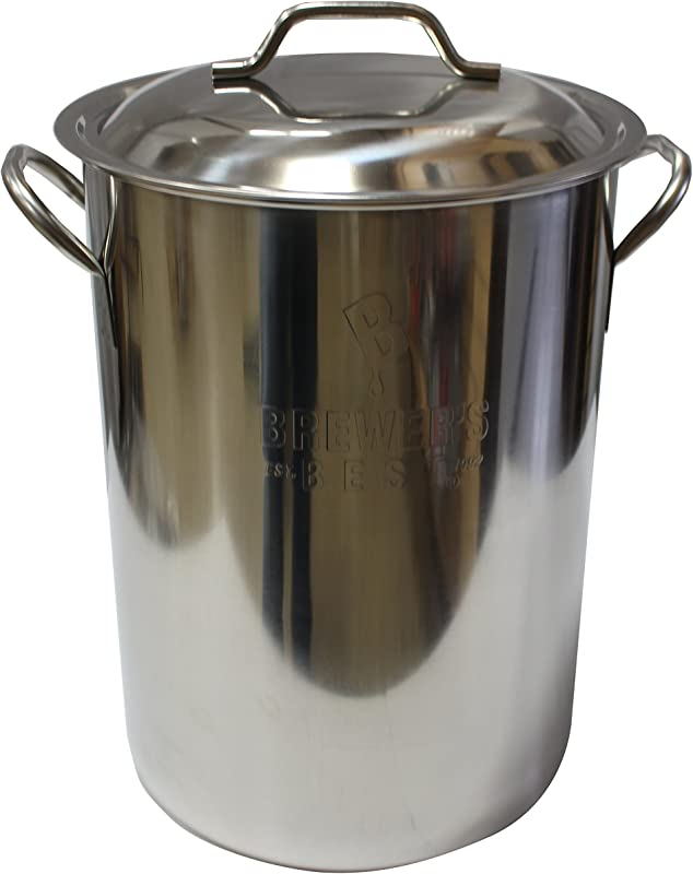 Brewer S Best Beer Brewing Boiling Pot Stainless Steel With Lid 8 Gal