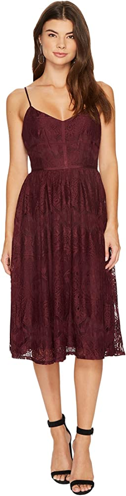 BB Dakota - Galina Lace Fit & Flare Midi Dress