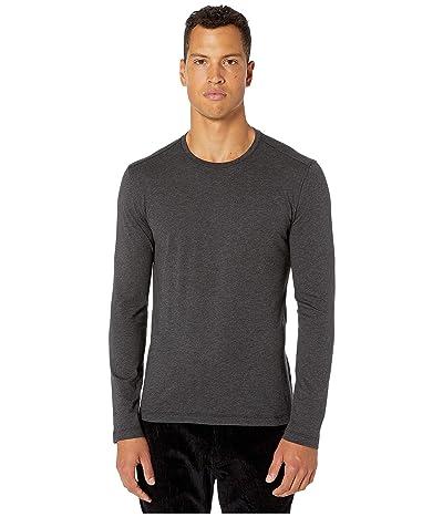 John Varvatos Collection Slim Fit Cotton/Cashmere Crew T-Shirt K3144V3 (Dark Grey Heather) Men