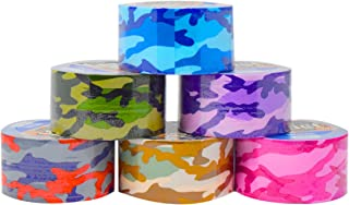 Set of 6 Colorful Duct Tape For Arts and Crafts (Camo Print)