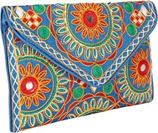 A Cutest Ethnic Embroidered Handmade Banjara Foldover Clutch Purse-Sling Bag-Cross Body Bag