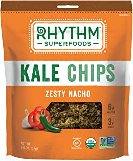 Rhythm Superfoods Organic Kale Chips, Zesty Nacho, 2 oz
