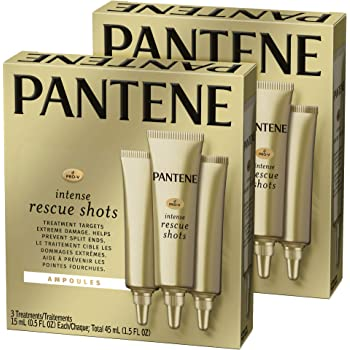 Pantene, Rescue Shots Hair Ampoules Treatment, Intensive Repair of Damaged Hair, Pro-V, 1.5 Fl Oz, Twin Pack
