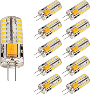 Bogao 10pcs Set G4 48 SMD LED Warm White 220 LM Light Crystal Bulb Lamps 3 Watt AC/DC 12V Equivalent to 20W Incandescent Bulb Replacement Halogen Bulbs 3000K
