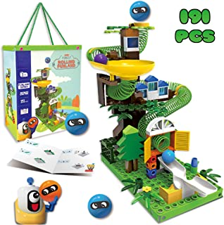 Premium Marble Run Play Set, Construction Building Blocks Toys for Boys & Girls, Toddlers, Fun EducationalMarble Maze Race Game Set  STEM Learning Toy  Best Gifts Idea Kids Age 3,4,5,6, Years Old