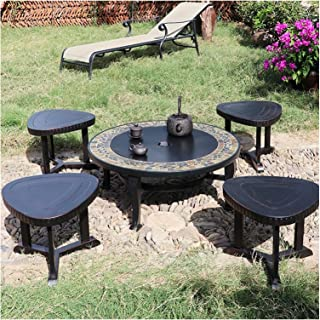 Outdoor Fire Pit Outdoor Fire Pit, Garden Party BBQ Cooking Fire Pit Barbecue Stove Stool Kit, New Home Gift