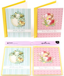 Hallmark Easter Cards Assortment, Vintage Chick and Bunny (6 Cards with Envelopes)