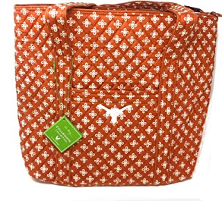 Vera Bradley University of Texas Large Tote Bag-15 X 14.5 X 6 Inches Hold Everything a Student Alumni or Fan Needs