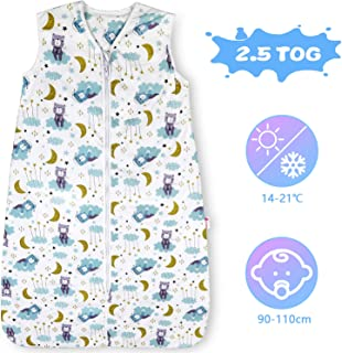 Lictin Winter Baby Sleeping Bag - 2.5 Tog Baby Wearable Blanket Sleeping Sack Baby Swaddle Blanket Sack with Adjustable Length 90-110cm for Infant Toddler 18 to 36 Months