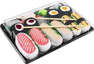 SUSHI SOCKS BOX 5 pairs Tamago Butterfish Salmon Maki FUNNY GIFT!Made in Europe