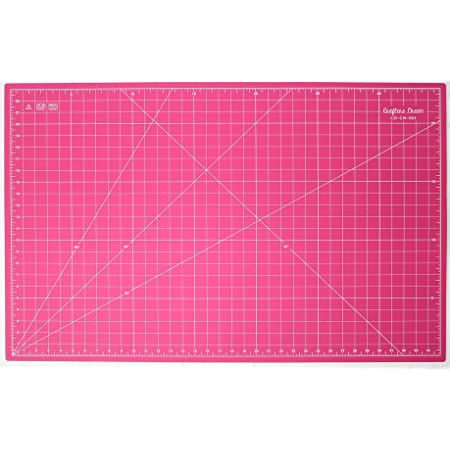Self Healing Eco Friendly Colorful Cutting Mat A4 300 x 220 mm Pink 12L x 9W Inch