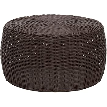 Grey /& White KETER Urban Knit Pouf Ottoman Set of 2 with Storage Table for Patio and Room D/écor-Perfect for Balcony and Outdoor Seating Deck