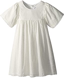 Chloe Kids French Embroideries Short Sleeve Dress (Big Kids)