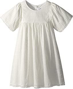 Chloe Kids - French Embroideries Short Sleeve Dress (Big Kids)