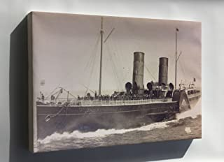 Canvas 16x24; Isle Of Man Steam Packet Company Paddle Steamer Queen Victoria