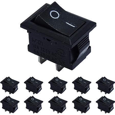 Esumic On Off 2 Position Spst 2 Pin Snap In Elektronik