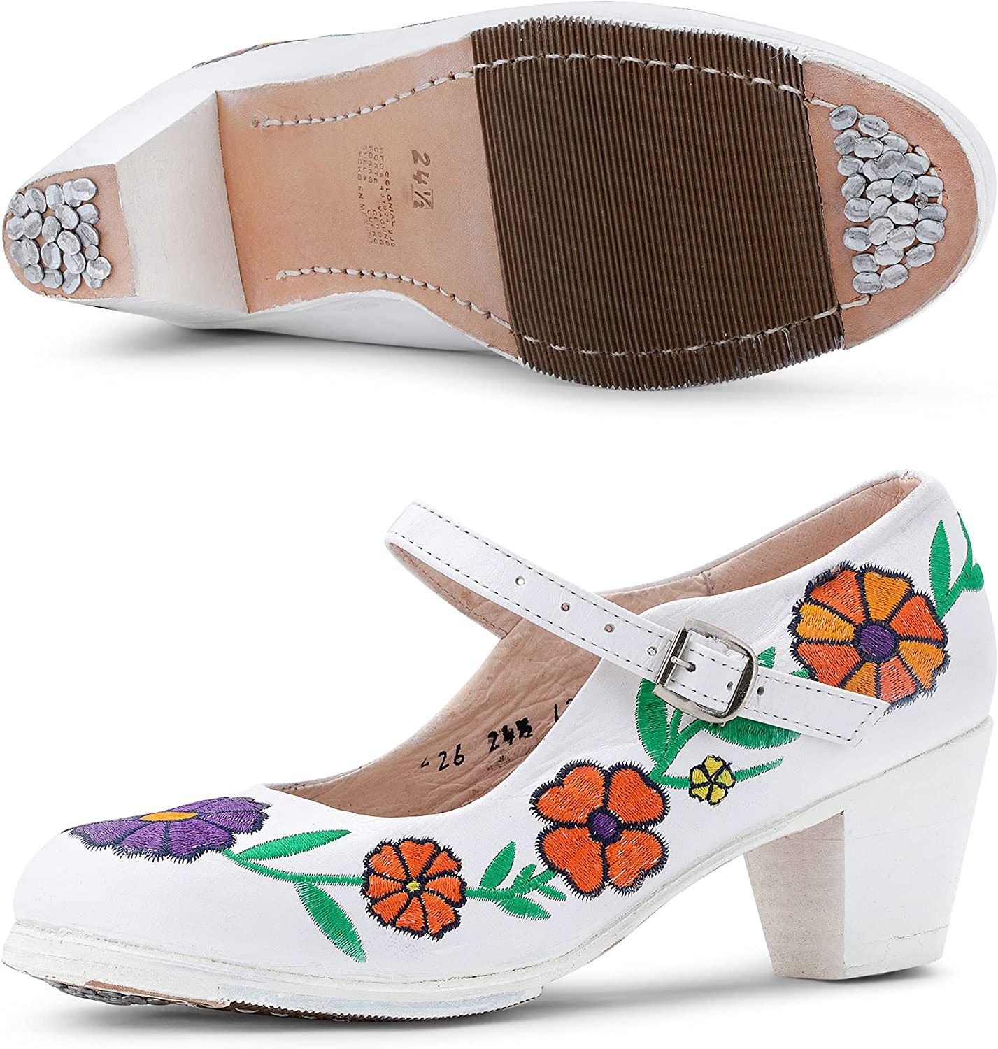 Colonial 226 Luxury Women's Folklorico Dance Oaxaca Sale price Nails F with Shoes