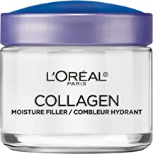 مرطوب کننده پوست کلاژن توسط L'Oreal Paris ، کرم ضد پیری و کرم شبانه برای چروک های صاف ، سبک و بدون کرم صورت ، 3.4 اونس.