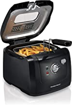 Best Hamilton Beach Cool-Touch Deep Fryer, 8 Cups / 2 Liters Oil Capacity, Lid with View Window, Basket with Hooks, 1500 Watts, Electric, Black (35021) Review