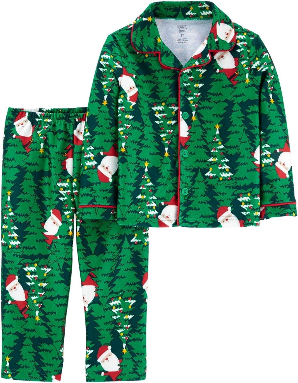 Carter's Baby Boys' 2 Piece Santa Tree Pajama Set