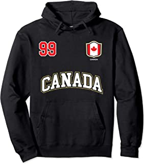 Canada Hoodie Number 99 Canadian Team Sports Hockey Soccer