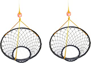 2 Pack of KUFA Rubber Wrapped Steel Ring Crab Trap (Size:ø30) with 50' Rope CT88x2