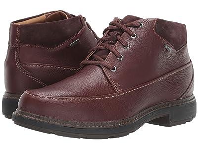 Clarks Un Tread OnGTX (Dark Brown Leather) Men