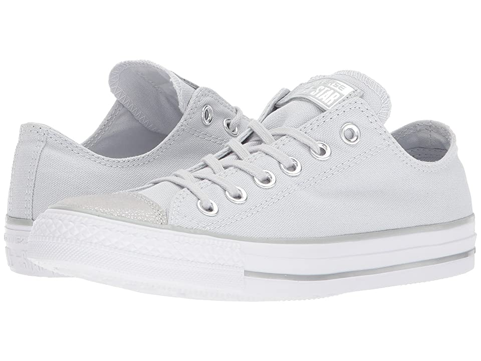 Converse Chuck Taylor(r) All Star Tipped Metallic Toecap Ox (Pure Platinum/Silver/White) Women