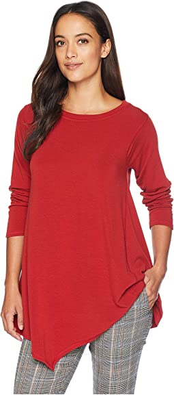 French Terry Asymmetric Hem Tunic