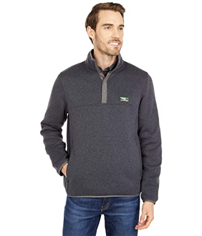 L.L.Bean Sweater Fleece Pullover (Charcoal Gray Heather) Men
