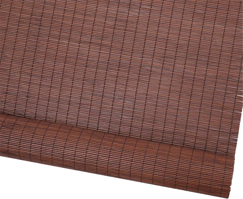 Outlet sale feature LLFF depot Wooden Roller Blinds Brown Vertical 70 Blackout 90