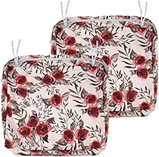 NettyPro Patio Chair Seat Cushion Covers 2 Pack Water Repellent UV Resistant Outdoor Cushion Slipcovers, 22 x 20 x 4 Inch