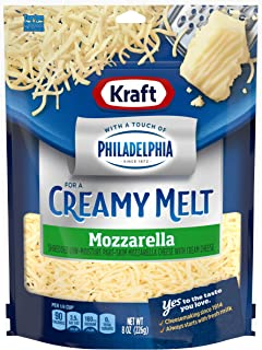 Kraft Natural Shredded Mozzarella with Philadelphia Cream Cheese (8 oz Bag)