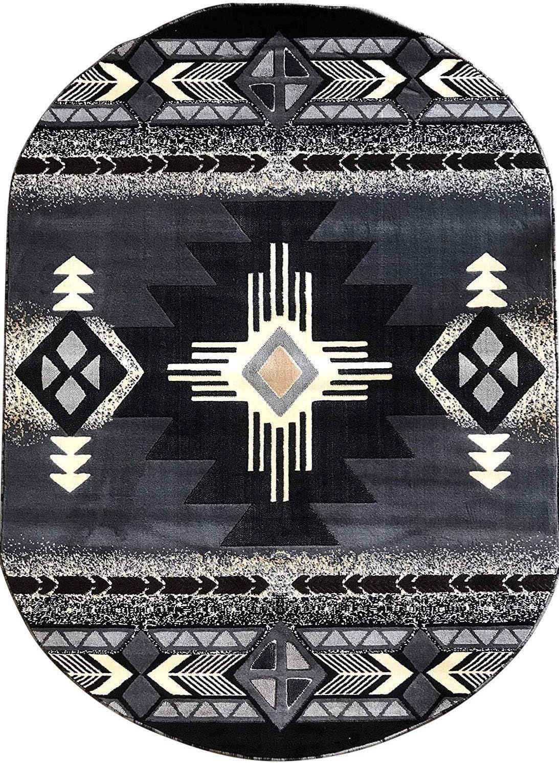 Champion Rugs Popular product Southwest Navajo Aztec Native American Gray Tribal Cheap SALE Start