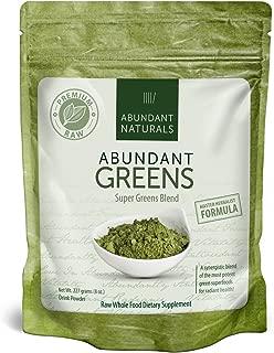 Organic Super Greens Powder | Raw Green Smoothie Superfood Drink Mix - Boost Energy & Vitality, Abundant Vitamins, Minerals, Antioxidants, Pleasant Taste, Non-GMO, Vegan Supplement, 38 Servings