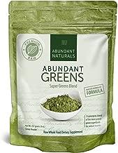 Organic Super Greens Powder   Raw Green Smoothie Superfood Drink Mix - Boost Energy & Vitality, Abundant Vitamins, Minerals, Antioxidants, Pleasant Taste, Non-GMO, Vegan Supplement, 38 Servings