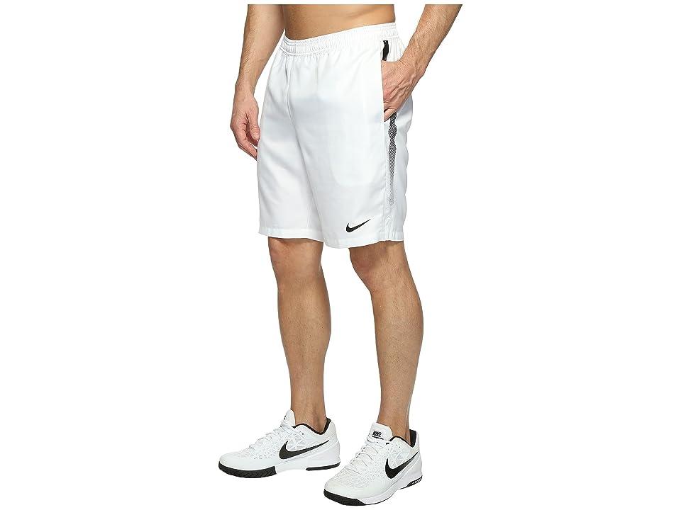 Nike Court Dry 9 Tennis Short (White/Black/Black) Men