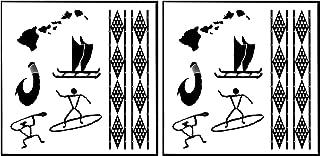 Old Hawaii Temporary Tattoos Set of 2 Sheets