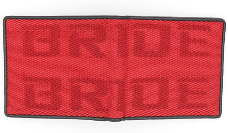 Bride-Red Kei Project Bride Racing Wallet Seat Fabric Leather Bi-fold Gradation