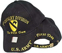 mws U.S. Army 1st Cavalry Division The First Team Embroidered Black Baseball Cap Hat