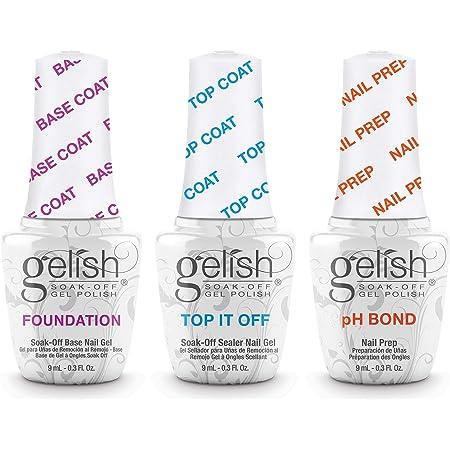 Gelish Terrific Trio Essentials 15 mL Basix Care Soak Off Manicure Gel Nail Polish Kit with Foundation, pH Bond and Top It Off Gel