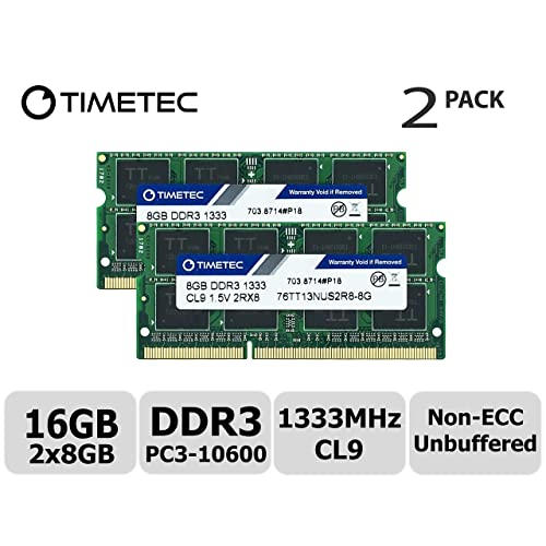 Timetec Hynix IC 16GB Kit(2x8GB) DDR3 1333MHz PC3-10600 Non ECC Unbuffered
