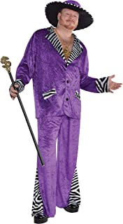 AMSCAN Sugar Daddy Pimp Halloween Costume for Men, Plus, with Hat